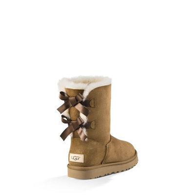 Women's Ugg 'Bailey Bow Ii' Genuine Shearling Lined Boot, Size 6 M - Brown