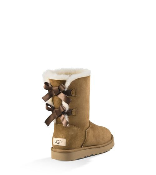 a5507fcde41 Women's Ugg 'Bailey Bow Ii' Genuine Shearling Lined Boot, Size 6 M - Brown