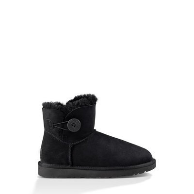 Women's Ugg 'Mini Bailey Button Ii' Boot, Size 7 M - Black