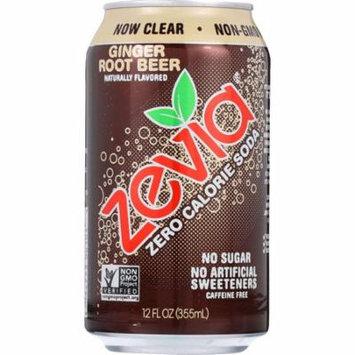 Zevia Natural Ginger Root Beer Zero Calorie Soda (4x6/12 OZ)