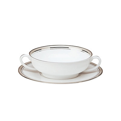 Philippe Deshoulieres Excellence Grey Cream Soup Saucer