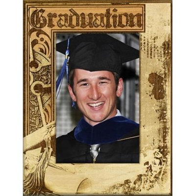 Giftworks Plus SCH0049 Graduation Grunge, Alder Wood Frame, 8 x 10 In