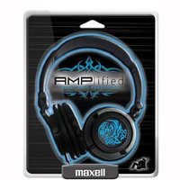 Maxell Headphone - Stereo - Blue - Mini-phone - Wired - 10 Hz 23 kHz - Over-the-head - Binaural - Ear-cup