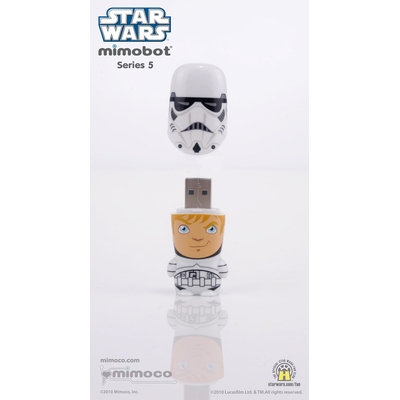 Mimoco 16GB MIMOBOT USB 2.0 Flash Drive - Stormtrooper Unmasked - 16GB - USB 2.0 - Stormtrooper Unmasked
