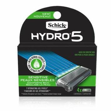 Hydro Sense Sensitive Mens Razor Blade Refill with Sensitive Gel, Includes 4 Razor Blades Refills Schick - Basic pack