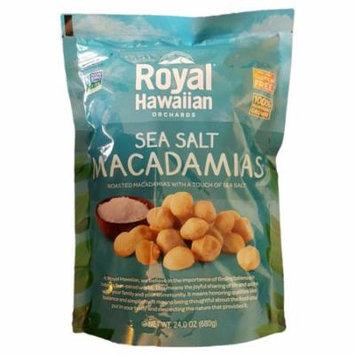 Royal Hawaiian Orchards Macadamias, Sea Salt Macadamia Nuts, 24 Ounces (680 Grams) 24 Ounce