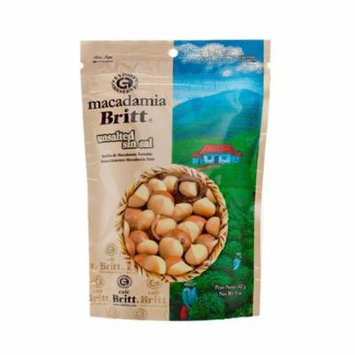 Britt Roasted Macadamia Nuts Unsalted - 5oz Resealable Snack Bag