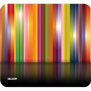 """Eforcity Allsop Naturesmart Mousepad Tech Multi Stripes - 1"""" x 8.5"""" Dimension - Multicolor"""