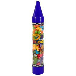 Crayola Construction Building Blocks Crayon Tube 80 Pieces
