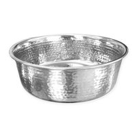 Neater Feeder® 64 oz. Hammered Stainless Steel Large Pet Bowl