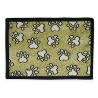 Park B. Smith® All Paws 13-Inch x 9-Inch Tapestry Pet Mat in Sand