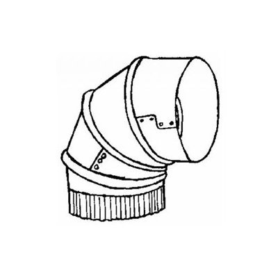 Imperial #GV0286-C 4 ADJ 30GA Furn Elbow
