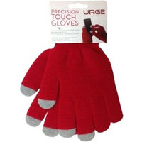 Urge Basics Texting Gloves for Touch-Screen Devices - Red - Red - Textured, Cold Resistant, Comfortable - For Touchscreen Device