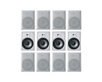 Acoustic Audio CS-IW630 3600 W RMS Indoor Speaker - 3-way - White - 45 Hz to 20 kHz - 8 Ohm - 93 dB Sensitivity - In-ceiling, In-wall