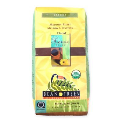 Beantrees 2-Pack Decaf House Blend Ground Organic Coffee