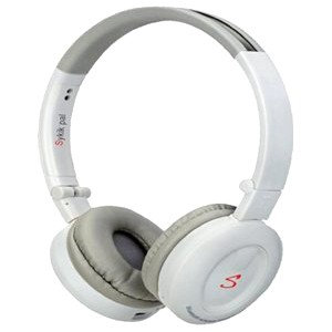Sykik Headset - Stereo - White - Wireless - Bluetooth - 32.8 ft - 32 Ohm - 20 Hz - 20 kHz - Over-the-head - Binaural - 82 dB SNR - Circumaural