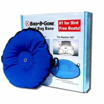 BSBB-SB Repeller 360 Bird Repellent Base, Keeps Bird B Gone repelled 360 And any size bird spider 360 in place on Biminis, canvas Tops, and decks By Bird B Gone
