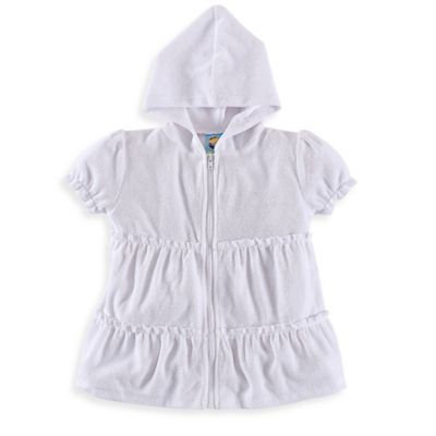 Baby Buns Size 6M Ruffle Cover-Up in White