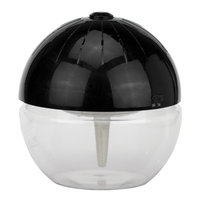 EcoGecko Earth Ball Water-Based Air Purifier & Revitalizer with Blue LED (Black)
