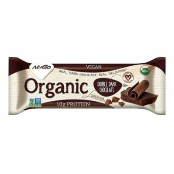 NuGO ORGANIC Nutrition Bar, Dark Double Chocolate, 1.76-Ounce Bars (Pack of 12)