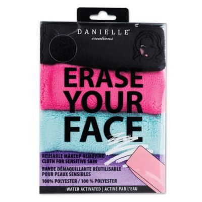 Erase Your Face 4-Pack Reusable Makeup Removing Cloth for Sensitive Skin