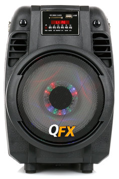 QFX PBX-710700BTL Speaker System - 300 W RMS - Portable - Battery Rechargeable - Wireless Speaker(s) - SD - Bluetooth - USB - FM Radio, LED Display, Wireless Audio Stream, Built-in Microphone