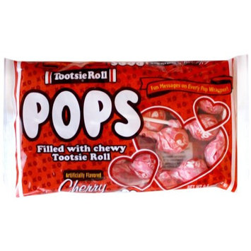 Tootsie Roll Cherry Flavored Pop with Fun message on Every Pop Wrapper (1 9.6oz) bag