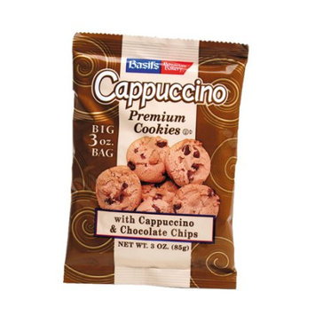 Biscomerica Basil's Cappuccino Cookies, Chocolate Chip, 3 Oz, 48 Ct