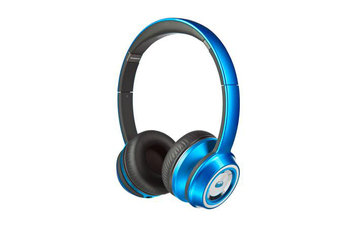 Monster Cable NTune On-Ear Headphones - Stereo - Candy Blue - Wired - Over-the-head - Binaural - Circumaural