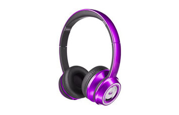 Monster Cable NTune On-Ear Headphones - Stereo - Candy Purple - Wired - Over-the-head - Binaural - Circumaural