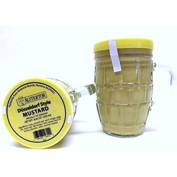 Alstertor Dusseldorf Style Mustard in Beer Mug 8.45 Oz (Pack of 2) In a Box