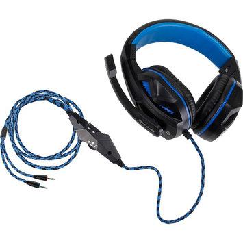 Accessory Power Enhance ENGXH20100BKEW Headset - Stereo - Black, Blue - Mini-phone - Wired - Over-the-head - Binaural - Circumaural - 8.17 ft Cable