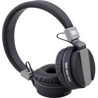 Qfx Quantum QFX Bluetooth Stereo Headphones - Stereo - Black - Mini-phone - Wired/Wireless - Bluetooth - Over-the-head - Binaural - Circumaural - 3.94 ft Cable