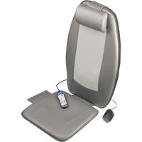 Wagan Heated Shiatsu Massage Cushion - Lower Back, Upper Back, Leg Vibration/Shiatsu Massager - Gray
