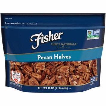 FISHER Chef's Naturals Pecan Halves, No Preservatives, Non-GMO, 16 oz - 16 Ounce
