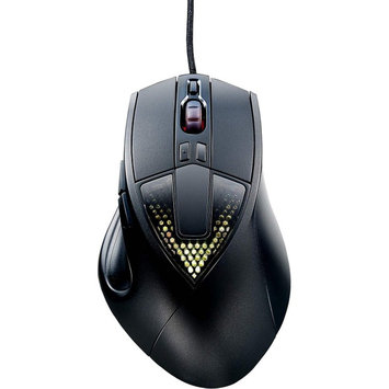 Cooler Master Sentinel III SGM-6020-KLOW1 Mouse - Optical - Cable - Black - USB 2.0 - 6400 dpi - Computer - Scroll Wheel - 8 Button(s) - Right-handed Only