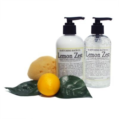 B. Witching Bath Co. Lemon Zest Lotion and Liquid Soap Gift Set