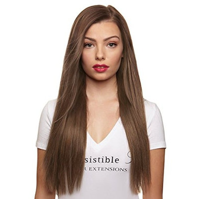 IRRESISTIBLE ME 1 piece Clip in Hair Extensions Ash Blonde (Color #10) - 100% Human Remy (Remi) Hair clip ins – Straight 1 Weft Set Clips - Signature Quad Weft - 22 Inches 80 grams (quad-10-22-80)