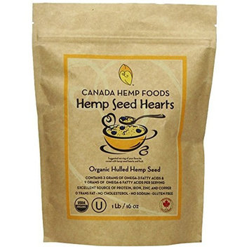Canada Hemp Foods Hulled Seeds Nutritional Supplement, Organic, 16 Ounce