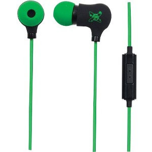 Manhattan Sound Science Nova Sweatproof Earphones - Stereo - Black, Green - Mini-phone - Wired - 16 Ohm - 20 Hz - 20 kHz - Gold Plated - Earbud - Binaural - In-ear - 4 ft Cable