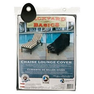 Mr. Bar-b-q Mr. Bar.B.Q Chaise Lounge Cover - Supports Chaise Lounge - PVC-free, Weather Resistant, Dirt Resistant, Water Resistant, Dust Resistant, Pollen Resistant, Sap Resistant, Rain Resistant, Tie-down Strap, Drawstring - Black