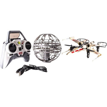 Spin Master Air Hogs Star Wars Epic Death Star vs. X-wing Battle RC Drone Set - Pilot the X-wing Drone - Shoot Down the Autonomous Death Star by Firing 3 Direct Hits - Careful Not to Get Hit