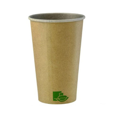 Packnwood 210GCZEN20 20 oz Zen Kraft Recyclable Paper Cups 3.54 x 6.3 in.