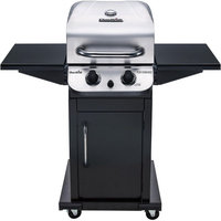 Char-Broil Performance Series 2 Burner Cabinet Gas Grill - 3 Sq. ft. Cooking Area - 2 Cooking Elements - Black, Silver