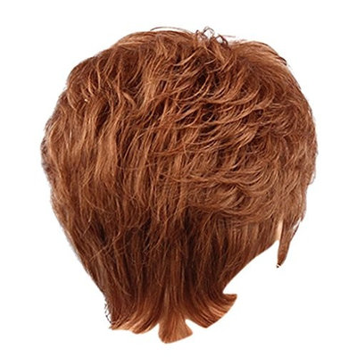 Homyl Short Flaxen Wig - Human Hair Natural Look Wig Fluffy Layered Bangs Hairstyle - Women Party Cosplay Heat Safe 28cm