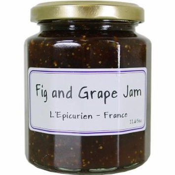 Fig and Grape Jam - All Natural French Recipe - L'Epicurien 11.6 oz