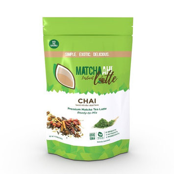 MATCHAAH! Instant Latte Ready-to-Mix Premium Matcha Tea Latte (Chai)