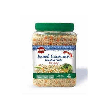 Baron's Kosher Israeli Tri-color Couscous Toasted Pasta 21.16-ounce Jars (Pack of 4)
