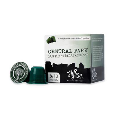 HiLine Coffee 10-Count Central Park Dark Roast Decaf Capsules