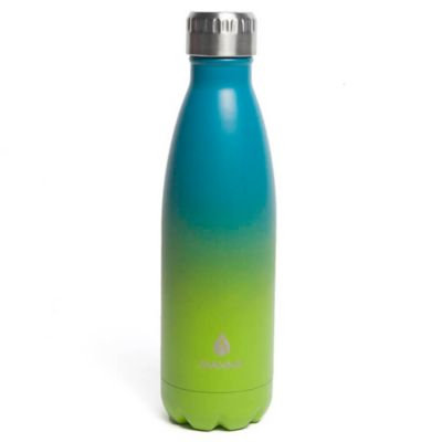 17 oz. Double Wall Stainless Steel Vogue Bottle in Lime/Teal Ombre
